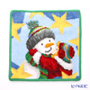 Feiler hand towel Winter snowman green 25 x 25 cm