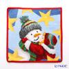Feiler hand towel Winter snowman red 25 x 25 cm
