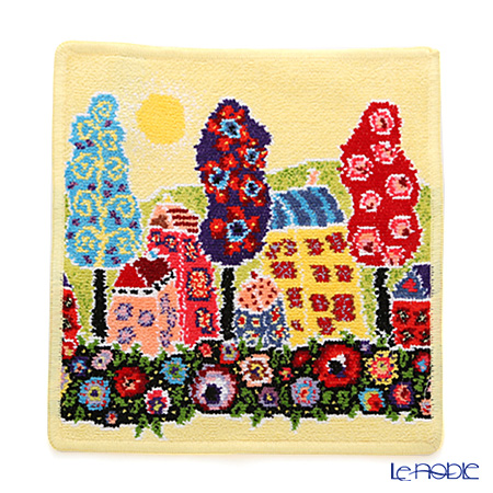 Feiler 'Cottage' Yellow Hand Towel 25x25cm