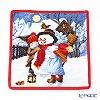 Feiler towel winter day Snowman red 25 x 25 cm