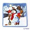 Feiler towel winter day Snowman blue 25 x 25 cm