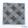 Feiler 'Pat' Grey & Sea Green (Blue) Hand Towel 25x25cm