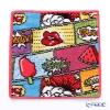 Feiler hand towel Comics pink 25 x 25 cm