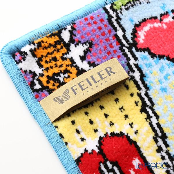 Feiler 'Comics' Cyan Blue Hand Towel 25x25cm