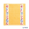 Feiler 'Aida (Flower) White' Bloom Yellow [70th Anniversary Limited Edition] Hand Towel 25x25cm