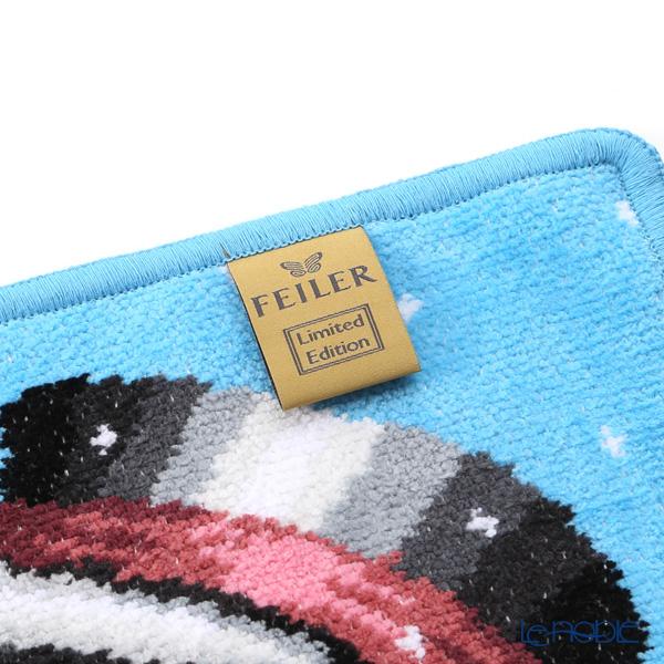 Feiler hand towel Winter snowman blue 25 x 25 cm