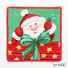 Feiler 'Christmas Santa' Red Hand Towel 25x25cm