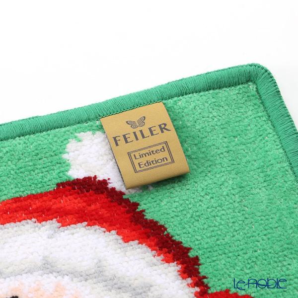 フェイラー ハンドタオルクリスマス サンタ グリーン 25×25cm