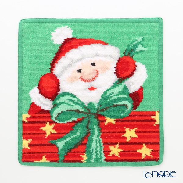 フェイラー ハンドタオル クリスマス サンタ グリーン 25×25cm