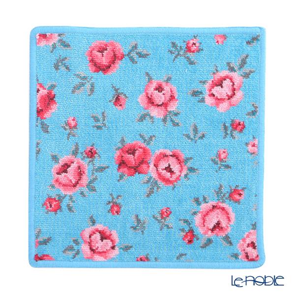 Feiler 'Mon Petit (Flower)' Cyan Blue Hand Towel 25x25cm