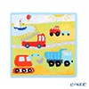 Feiler 'Move On (Car)' Pool Blue Hand Towel 25x25cm