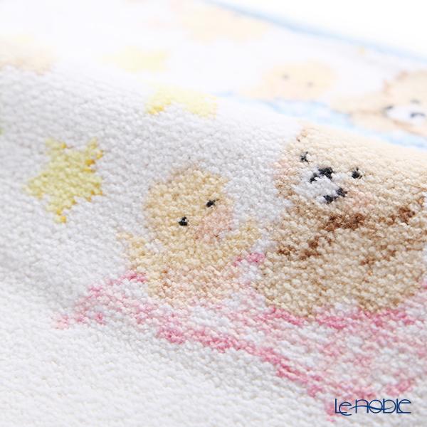 Feiler 'Ben & Fine (Bear/ Animal)' Light Blue Hand Towel 25x25cm