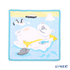 Feiler 'Bear & Friends (Animal) Lazy Bear' Light Blue Hand Towel 25x25cm