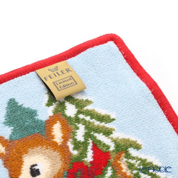 Feiler 'Winter Bambi' Red [2019] Hand Towel 25x25cm