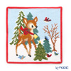 Feiler 'Winter Bambi' Red [2019] Hand Towel 25x25cm