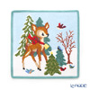 Feiler 'Winter Bambi' Green [2019] Hand Towel 25x25cm