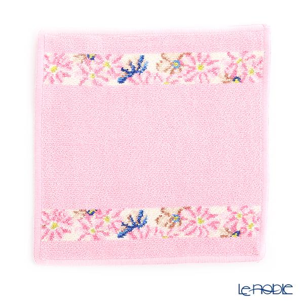 Feiler Hand Towel (Handkerchief) Cosmos Beige 25x25cm Candy Pink