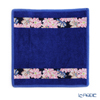 Feiler 'Cosmos Blue (Flower)' Blue Hand Towel 25x25cm