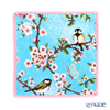 Feiler 'Chickadee and Cherry Blossoms' Raspberry Red Hand Towel 25x25cm