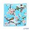Feiler 'Chickadee and Cherry Blossoms' Aqua Blue Hand Towel 25x25cm