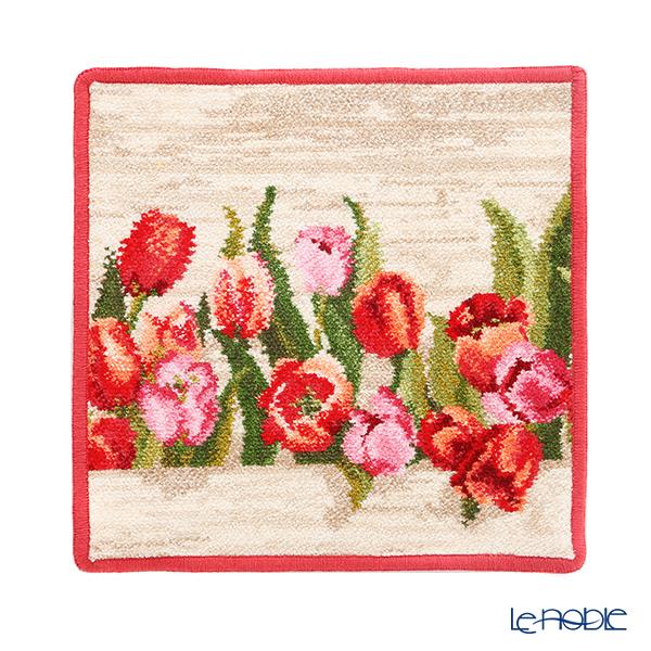 Feiler 'Amsterdam (Tulip Flower)' Carmin Red Hand Towel 25x25cm