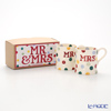 Emma Bridgewater / Earthenware 'Polka Dot - Mr & Mrs' Mug 284ml (set of 2)