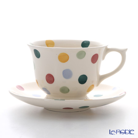 Emma Bridgewater Polka Dot Large Teacup & Saucer Set