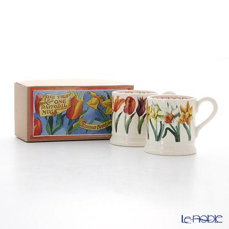 Emma Bridgewater Flowers Set of Two 1/2 Pint Mugs Boxed 2016