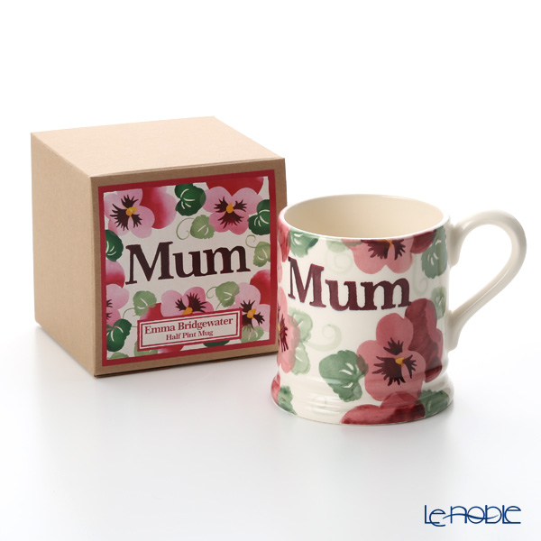 Emma Bridgewater Pink Pansy, Mum 1/2 Pint Mug 340 cc