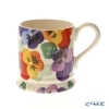 Emma Bridgewater / Earthenware 'Purple Pansy (Flower)' Mug 284ml