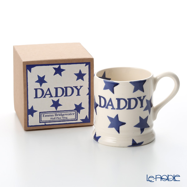 Emma Bridgewater Blue Star DADDY 1/2 Pint Mug 340 cc Boxed 18SS