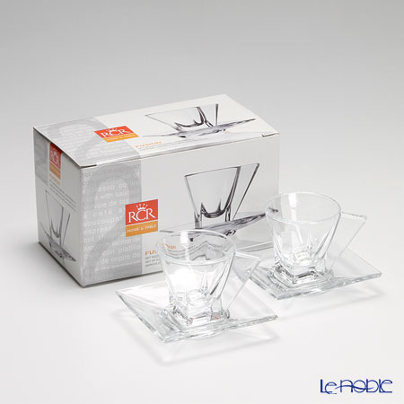 RCR Home&Table フュージョンエスプレッソカップ&ソーサー 70cc ペア