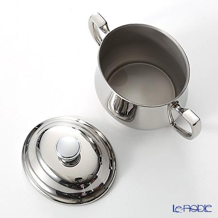 Sambonet Elite stainless steel 18/10 Sugar Bowl W/Cover & Handles 9 oz