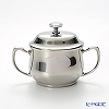 Sambonet Elite stainless steel 18/10 Sugar Bowl W/Cover & Handles 9 oz