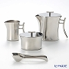 Sambonet Bamboo Stainless steel 18/10 Teapot, Sugar, Creamer and Tong 56708-LN