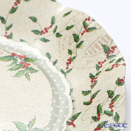 Exclusive Trade 'Christmas 2016 Holly' EX43QH5 Paper Plate 20cm (set of 5)