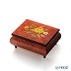 Ercolano Italy inlaid music box (spring) Flower red