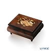 Ercolano Italy inlaid music box (Moon light) violin Brown