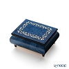 Ercolano Italy inlaid music box (candy dance) Blue frame