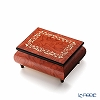 Ercolano Italy inlaid music box (candy dance) Frame Red