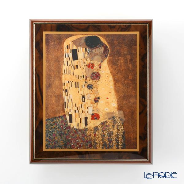 エルコラーノ イタリア アートオルゴール(月の光)クリムト 「接吻」 限定生産品