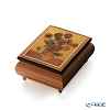 Ercolano Italy art music box (the waltz of the flowers) Van Gogh 'sunflower'