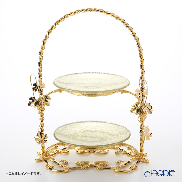 Created with plate cake stand 2-Gold Aya grapes with LZ10789 gold