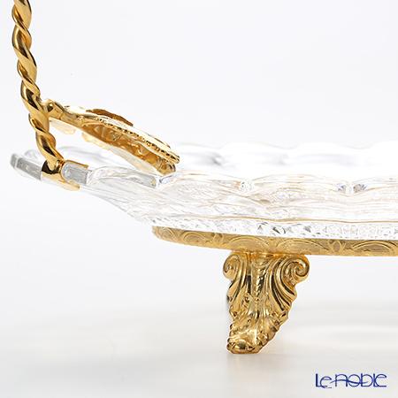 Cre Art 'Grape Vine' Gold Decor CS10790 Footed Cake Stand