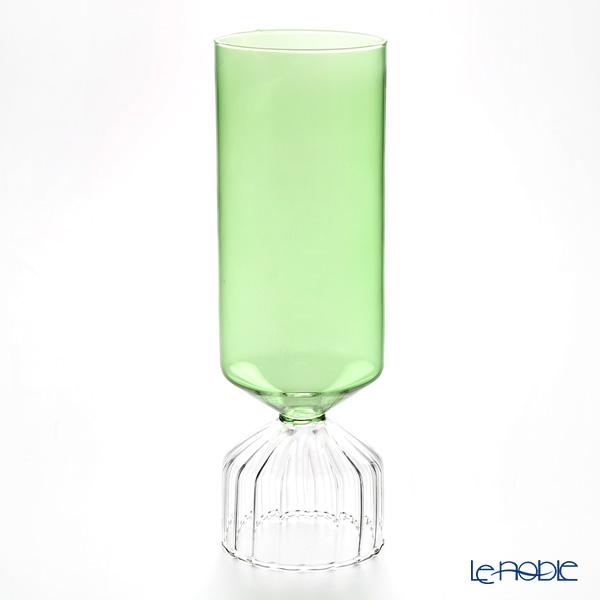 イッケンドルフ ブーケ カローレ ベース クリア/グリーン H27cm
