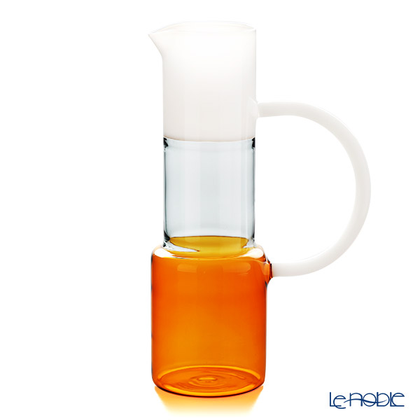 Ickendorf 'Caipirinha' Amber Orange & Smoke Grey & White Pitcher Jug