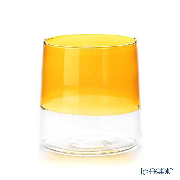Ickendorf 'Light' Clear & Amber Yellow Wine Tumbler