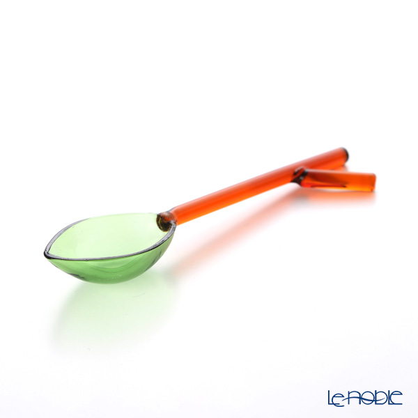 Ickendorf 'Greenwood - Leaf Bunch' Green & Amber Spoon 12cm