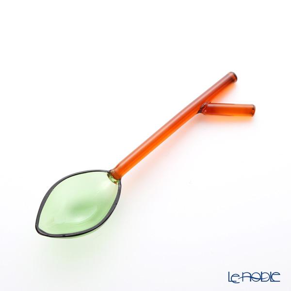イッケンドルフ グリーンウッド ガラス製スプーン リーフ 長さ12cm
