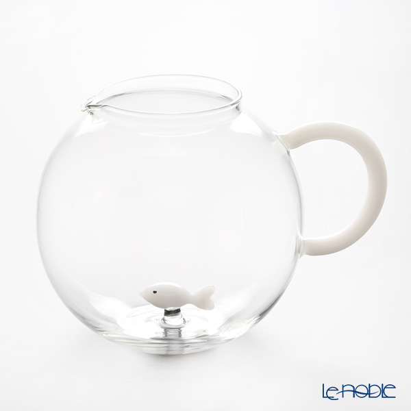 イッケンドルフ アニマルファーム ジャグ フィッシュ ホワイト 2L(満水容量)